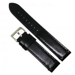 Curea de ceas XXL din piele neagra 18mm 20mm 22mm 24mm C3135