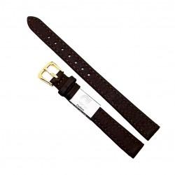 Curea de ceas din piele naturala Maro XL - 12mm - C3141