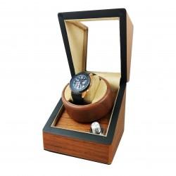 Watch Winder Lemn Natur - Dispozitiv pentru intoarcere ceasuri automatice - WW3145