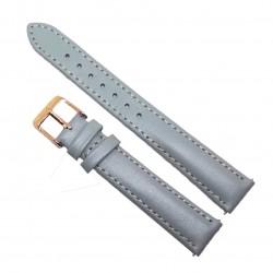 Curea de ceas din piele naturala Gri - 16mm - C3155