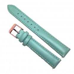 Curea de ceas din piele naturala Verde marin - 16mm - C3157
