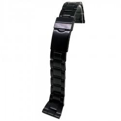 Bratara pentru ceas din otel inoxidabil Neagra - 20mm