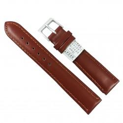 Curea pentru ceas din piele naturala Nagata Maro - 18mm