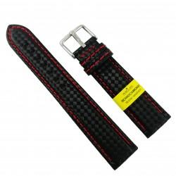 Curea de ceas Neagra din material textil si piele naturala Morellato - 20mm, 22mm, 24mm - C3209