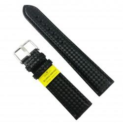 Curea de ceas Neagra din material textil si piele naturala Morellato - 20mm - C3211