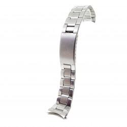 Bratara pentru ceas Argintie din Otel Inoxidabil, capete curbate - 20mm - BR3229