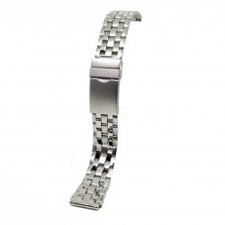 Brata de ceas Argintie din Otel Inoxidabil - 18mm - 2BR12