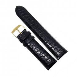 Curea de ceas neagra din piele veritabila de Crocodil - 22mm 1BE14D04P/5M