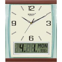 Ceas de perete analog și digital RIKON 13951LCD
