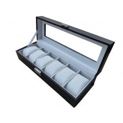 PREMIUM Cutie depozitare si organizare pentru 6 ceasuri