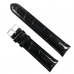 Curea de ceas Neagra din piele naturala - 20mm, 22mm - WZ3417