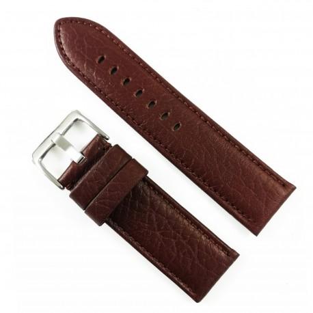 Curea de ceas Maro-roscat din piele naturala - 24mm - WZ3421