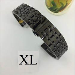 Bratara de ceas neagra din otel inoxidabil 20mm 22mm WZ3425