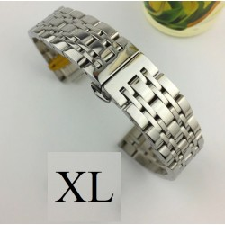 Bratara de ceas ARGINTIE din otel inoxidabil de 20mm 22mm si anse drepte WZ3426