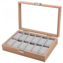 Caseta pentru 12 ceasuri Lemn Natur - WZ3444