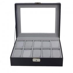 Caseta pentru 10 ceasuri Black Carbon - WZ3447