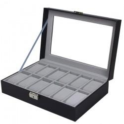 Caseta pentru 12 ceasuri Black Carbon - WZ3448