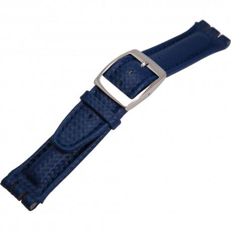 Curea de ceas albastra Morellato - Swatch 20mm A01U1840840825MO20