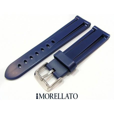 Curea de ceas albastra din silicon Morellato 22mm A01U2859198062CR