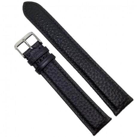 Curea de ceas Chermond Neagra Bizonata XXL 18mm 20mm 22mm