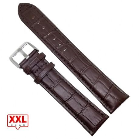 Curea de ceas maro inchis XXL 22mm WZ3580
