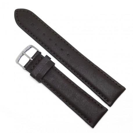 Curea de ceas maro Morellato textil + piele 18mm 20mm WZ3583