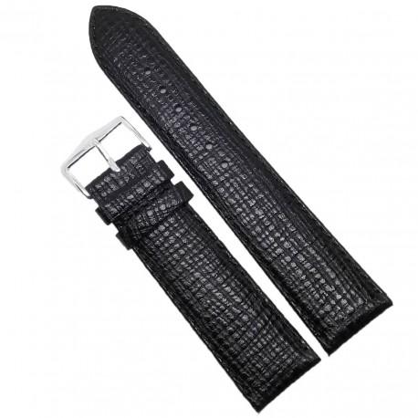 Curea de ceas neagra din piele naturala 23mm WZ3616