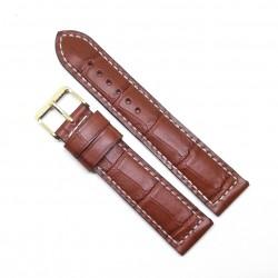 Curea de ceas maro din piele veritabila de Crocodil - 20mm 1EX14D62G