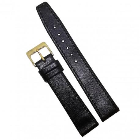 Curea de ceas neagra pentru anse fixe 8mm 12mm 16mm 18mm 20mm