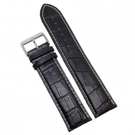 Curea Ceas Piele Neagra 12mm Imprimeu Sapre