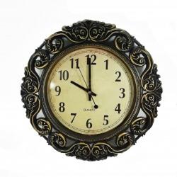 Ceas de perete rotund ornamentat