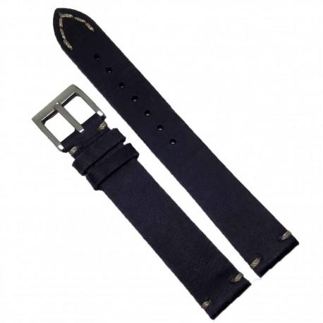 Curea de ceas bleumarin foarte inchis 18mm 20mm  WZ353