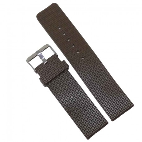 Curea ceas de silicon maro 22mm