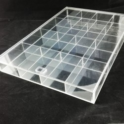 Cutie pentru organizarea transparenta 16 spatii cu capac