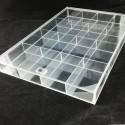 Cutie pentru organizarea transparenta 20 spatii cu capac WZ454