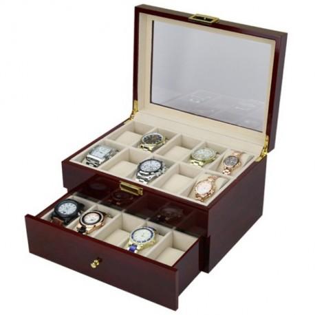 Cutie depozitare si organizare 20 ceasuri - LEMN