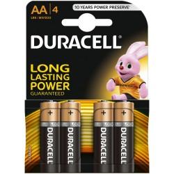 Baterie Alcalina Duracell AA LR6 Set 4 Baterii