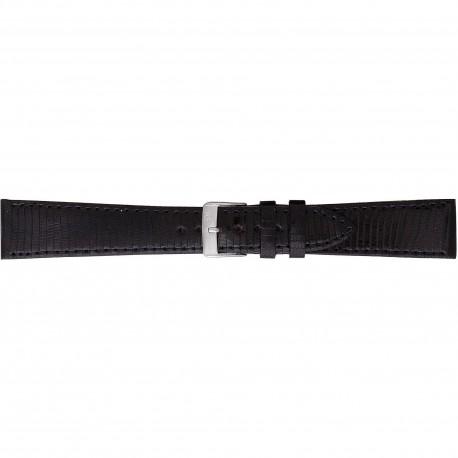 Curea de ceas Morellato - Neagra - Piele de Soparla - 18mm / 20mm - A01U0858040019CR