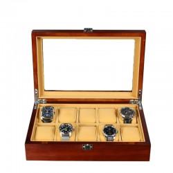 Cutie pentru 10 ceasuri din Lemn - Melania - WZ3680