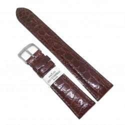 Curea de ceas Morellato - Maro inchis - Piele Veritabila Crocodil - 20mm - A01U0518052034CR