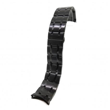 Bratara de ceas Neagra din Otel Inoxidabil - Capete Curbate - 24mm - WZ3784