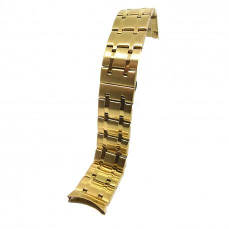 Bratara de ceas Aurie din Otel Inoxidabil - Capete Curbate - 24mm - WZ3785