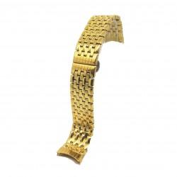 Bratara de Ceas Aurie din Otel Inoxidabil - Capete Curbate - 20mm - WZ3786