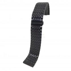 Bratara de ceas Neagra din Otel Inoxidabil - 22mm - WZ3789