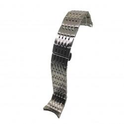 Bratara pentru Ceas Argintie din Otel Inoxidabil - Capete Curbate - 22mm - WZ3793