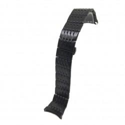 Bratara pentru Ceas Neagra din Otel Inoxidabil - Capete Curbate - 22mm - WZ3794