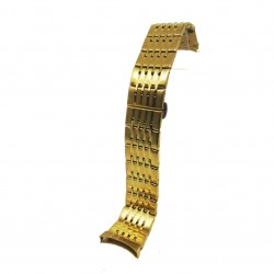 Bratara pentru Ceas Aurie din Otel Inoxidabil - Capete Curbate - 22mm - WZ3795