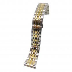 Bratara de ceas din Otel Inoxidabil - Bicolora (argintiu si auriu) - 22mm, 24mm - WZ3816
