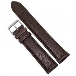 Curea ceas Tech Swiss piele maro XXL 22mm