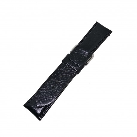Curea de ceas din Piele Naturala - Culoare Neagra si Textura Lucioasa - 22mm - GR3873